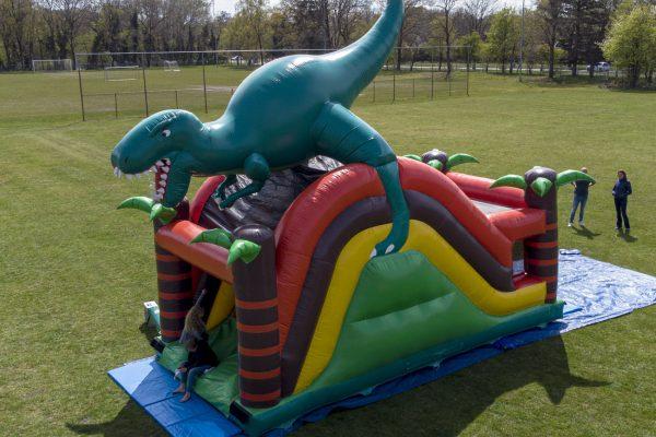 Jumppret Amersfoort Springkussen Verhuur Dinosaurus 5